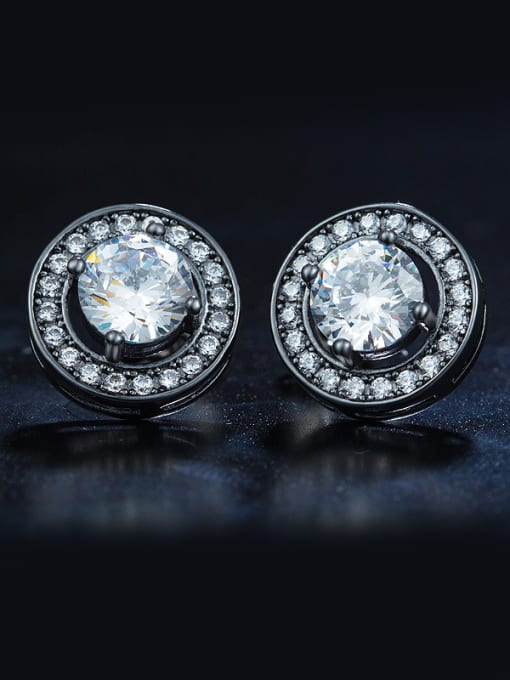 Chris Black Zircon Cluster earring