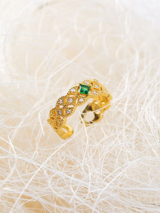 Girlhood Alloy With Gold Plated  Cubic Zirconia Classic free size Rings