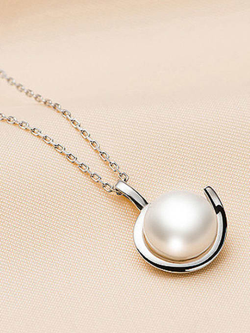 Evita Peroni Simple Freshwater Pearl Round Necklace