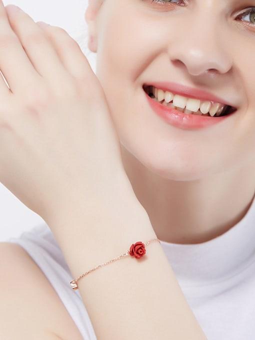 Maja Rose Gold Flower-shaped Bracelet