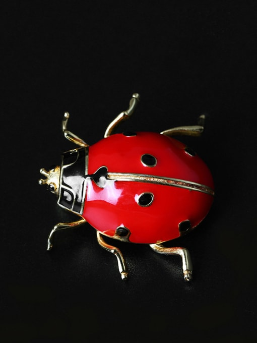 Christian Color Enamel Insect Personality Brooch