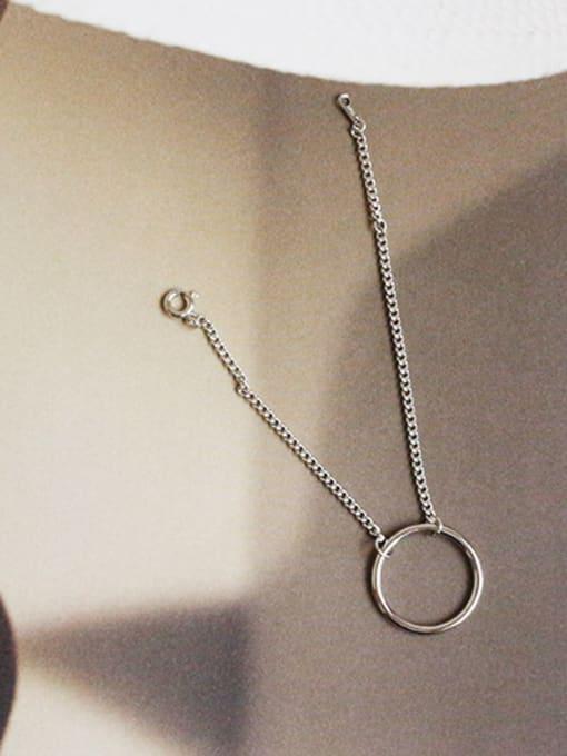 Arya Simple Hollow Round Silver Women Bracelet