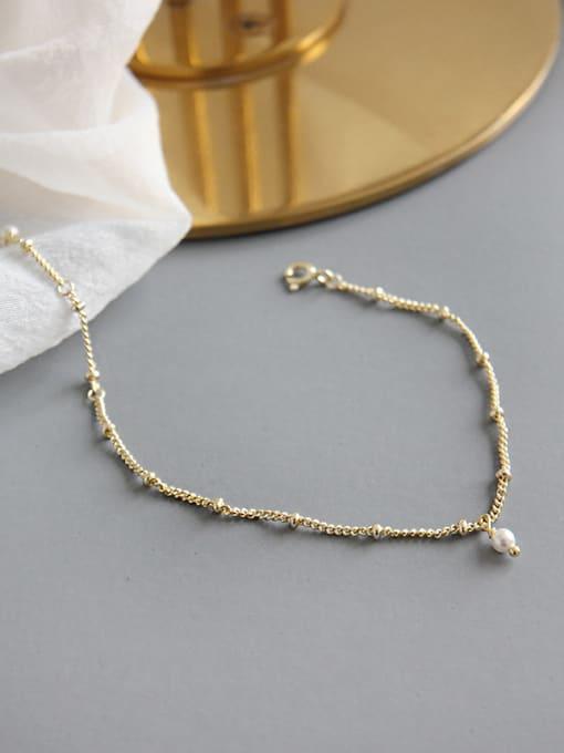 Arya Sterling silver minimalist style gold bracelet