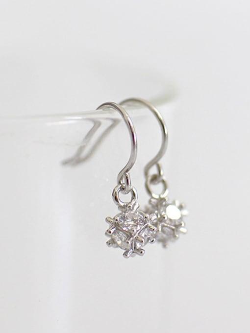Arya Fashion Cubic Zircon-studded little Bead Silver Earrings