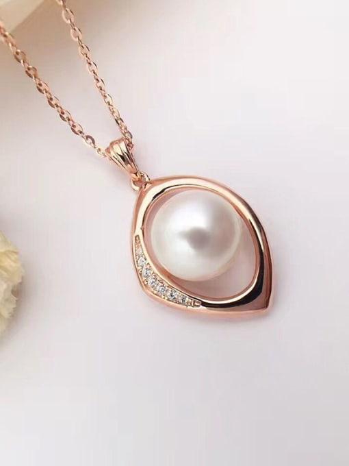 Evita Peroni Freshwater Pearl Eye-shaped Necklace