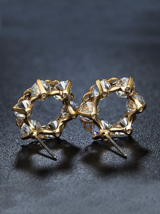 Armadani Fashion Gold Plated Zircon Stud Earrings