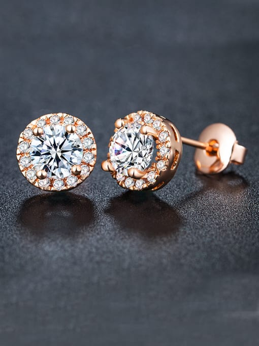 Armadani Rose Gold Plated Zircon Cluster earring