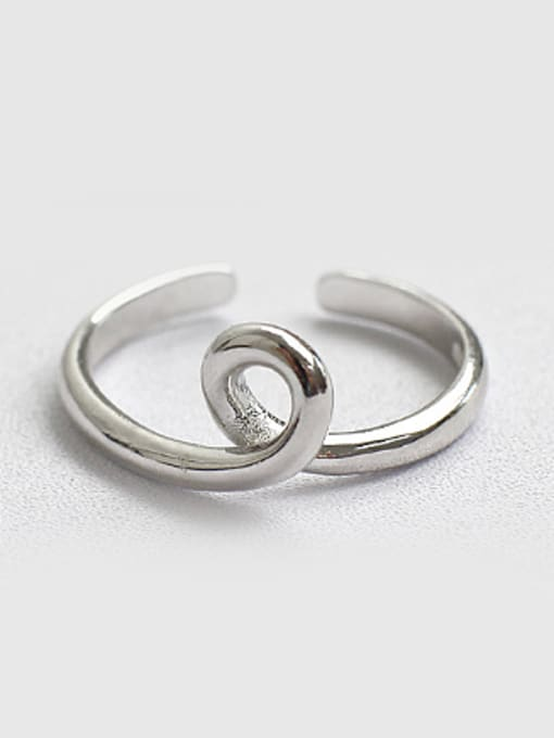 Arya Personalized Twisted Knot Silver Opening Ring