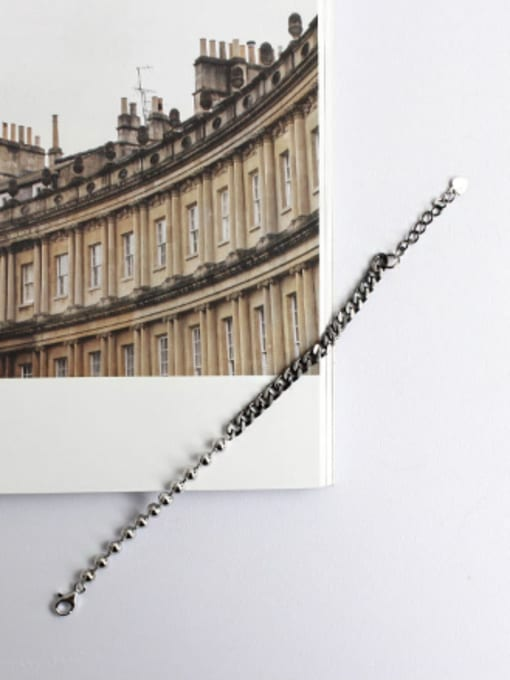 Arya Personalized Little Beads Chain Silver Bracelet