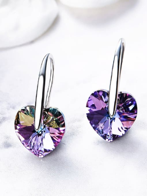 Maja Swarovski Crystals Heart-shaped drop earring