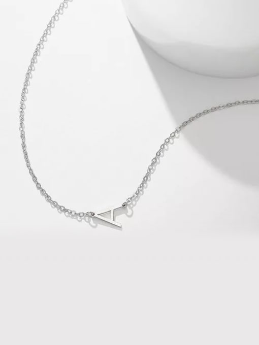 Lian Designs Customize Sterling Silver one letter Name Necklace
