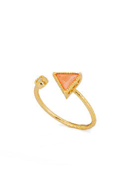 Gold Youself ! Gold Plated Copper Stone Band Ring
