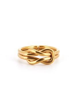 Custom Gold Statement Band Ring with Gold Plated Titanium