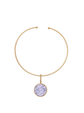 Simple Round Artificial Stones Necklace