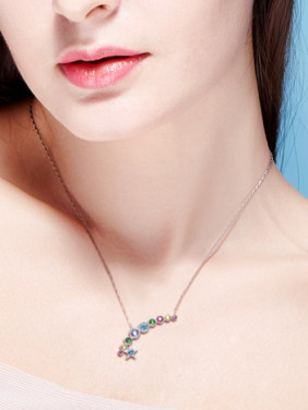 S925 Silver Colorful Necklace
