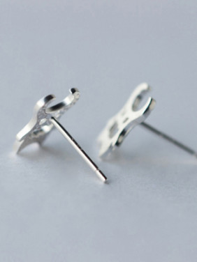 S925 Silver Handsome Personality Cartoon stud Earring