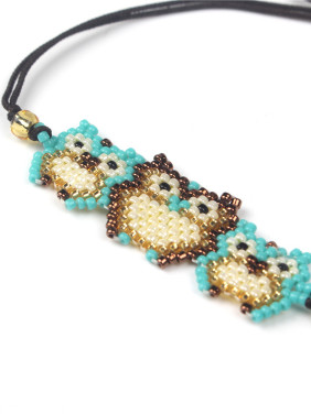 Owl Shaped Accessories Colorful Woven Bracelet