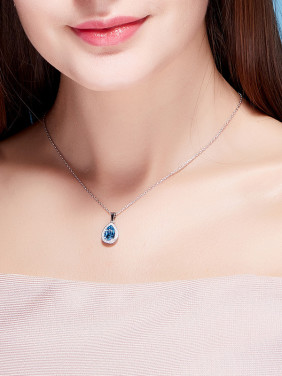 S925 Silver Water-shaped Necklace