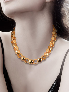 18K Fashion Thick Chain Necklace