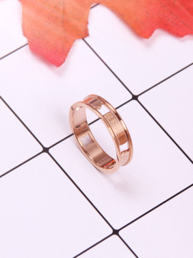 Concave Hollow Titanium Lover Ring