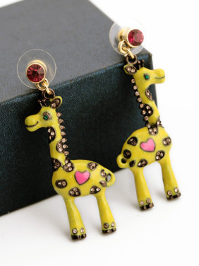 Fashion Lovely Giraffe Stud drop earring