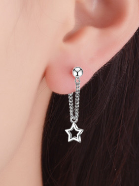 Simple Hollow Star Women Earrings