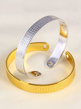 Copper Alloy 24K Gold Plated Ethnic style Opening Bangle