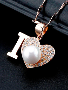 S925 Silver Heart Shaped Pearl Necklace