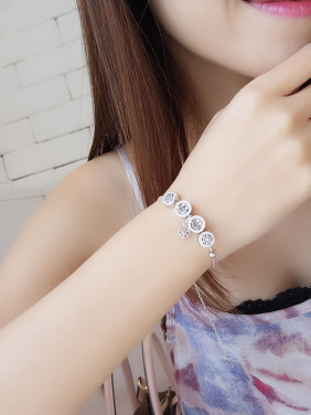 Women Cute Smiling Face Bracelet