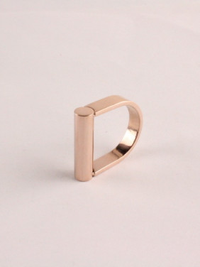 D Shape Fashion Titanium Ring