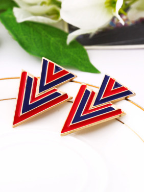 Personality Triangle Alloy Stud Earrings