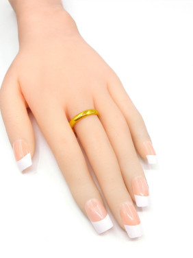 Men Geometric Shaped Scrub Ring