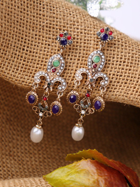 2018 Retro Personality Tassel Drop Chandelier earring