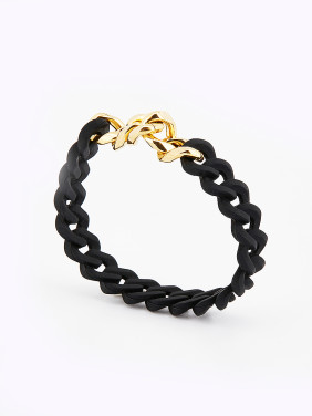 chain Gold Plated PVC Gold Charm Bracelet