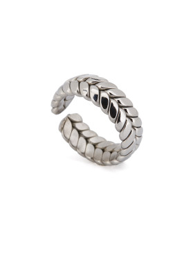 New design Silver-Plated Titanium Personalized Band band ring in Silver color