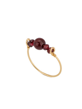 The new Gold Plated Copper Garnet Band Ring with