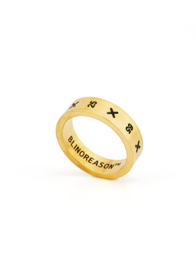 A Gold Plated Titanium Stylish  Band Ring Of Monogrammed