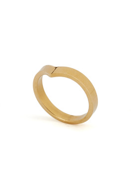 Gold Plated Titanium Statement Band Ring