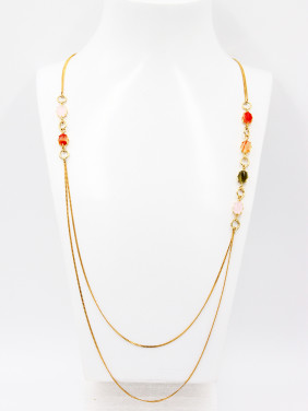New design Gold Plated chain Carnelian Chain in Multi-Color color
