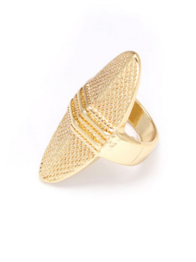 Gold Statement Youself ! Gold Plated Zinc Alloy  Band Ring
