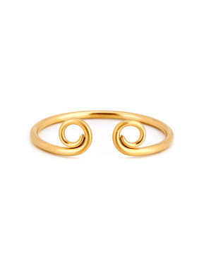 New design Gold Plated Titanium Statement Bangle in Gold color