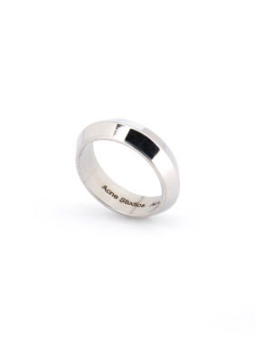 Blacksmith Made Silver-Plated Titanium Round Band band ring