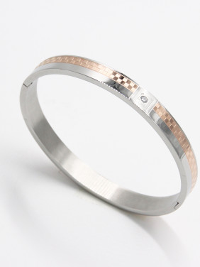Personalized Stainless steel Multicolor  Zircon Bangle  63MMX55MM
