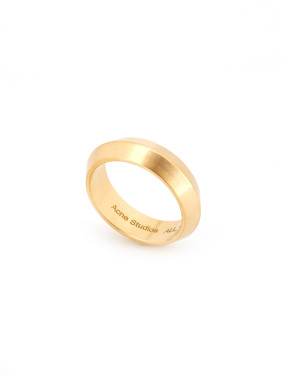 New design Gold Plated Titanium Round Band Ring in Gold color