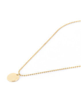 Fashion Gold Plated Brass Round necklace