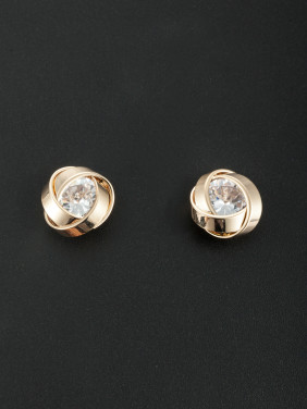 Custom White Personalized Studs Earring with Gold Plated