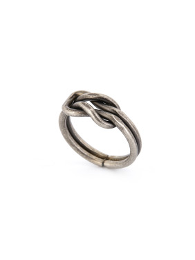 Silver color Silver-Plated Titanium Statement Band Ring