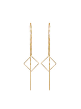 Personalized Gold Plated Zinc Alloy Gold Geometric Drop Earring