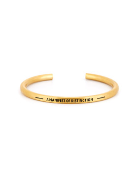 The new Gold Plated Titanium Monogrammed Bangle with Gold