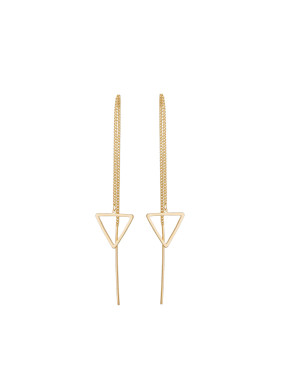 Gold Plated Zinc Alloy Triangle Drop Earring